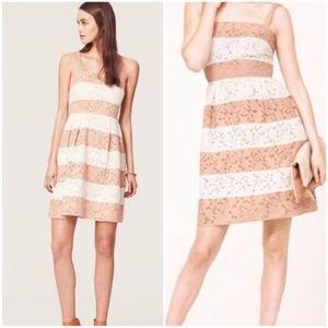 LOFT striped eyelet dress